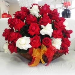 Cesta com 36 Rosas Importadas