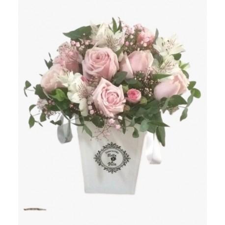 FLOWERS BOX DE ROSAS MISTAS